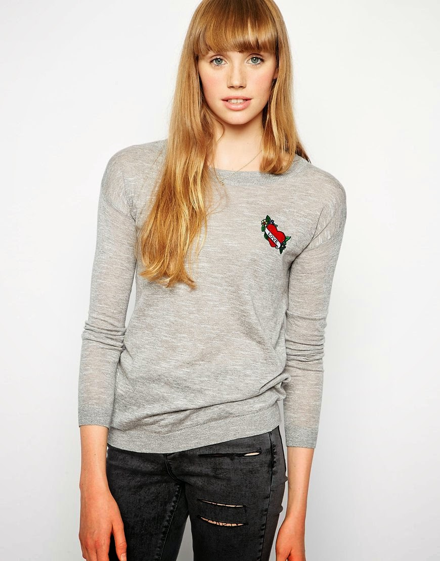 heart tattoo jumper