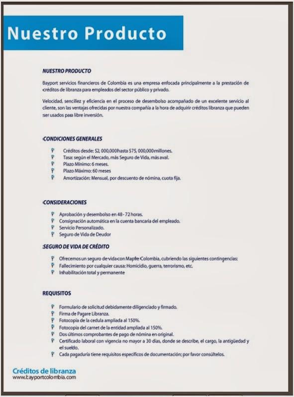 Grupo financiero bayport creditos por libranzas for Viveros en maldonado