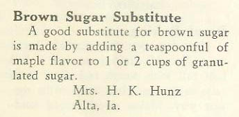 Things Your Grandmother Knew Brown Sugar Substitute