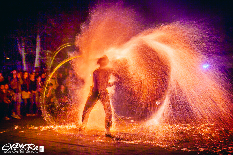 JumpFire - fire show -  Noc Muzeów 2015.
