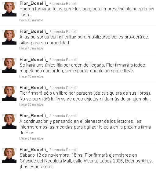 Twitter Flor Bonelli