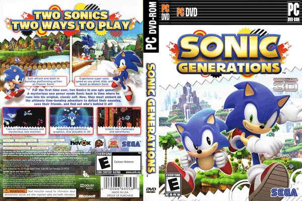 download pc sonic generations