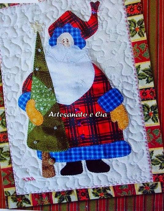Adesivo De Unha Bailarina ~ Artesanato e Cia Moldes de Papai Noel