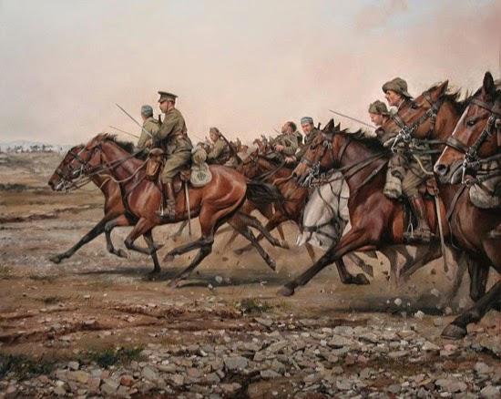 Carga del río Igan por el Regimiento Alcántara (Ferrer Dalmau)