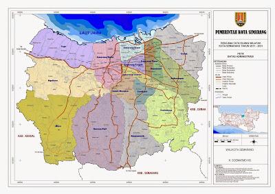 Peta Batas Administrasi Kota Semarang