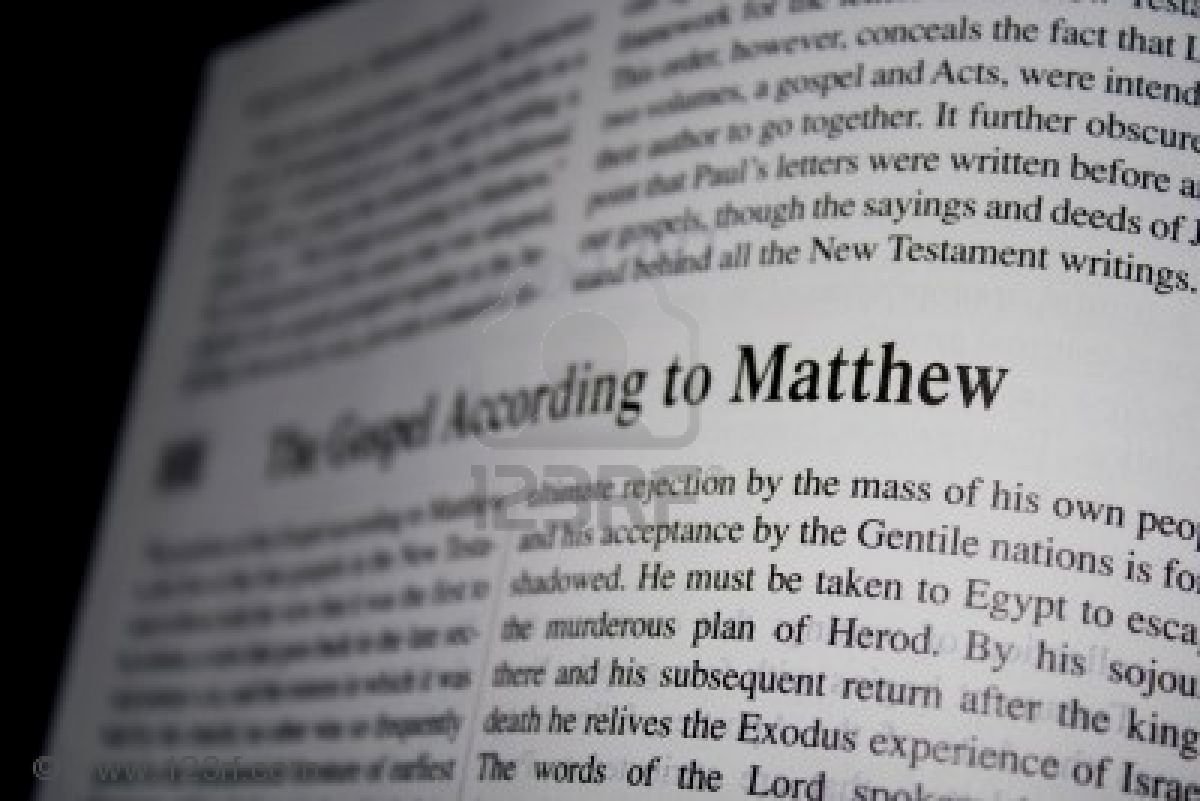 gospel of matthew essay The position of the gospel according to matthew as the first of the four gospels in the new testament reflects both the view that it was the first to be written.