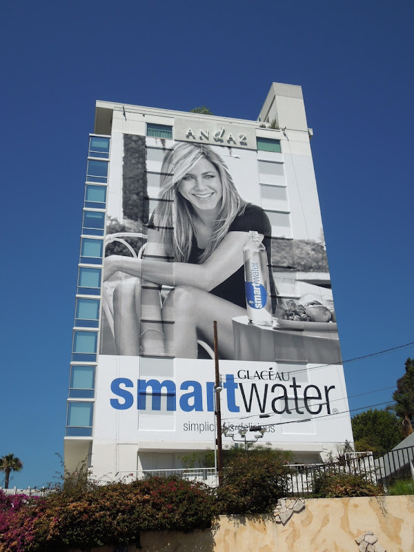 Giant Jennifer Aniston Smart Water billboard