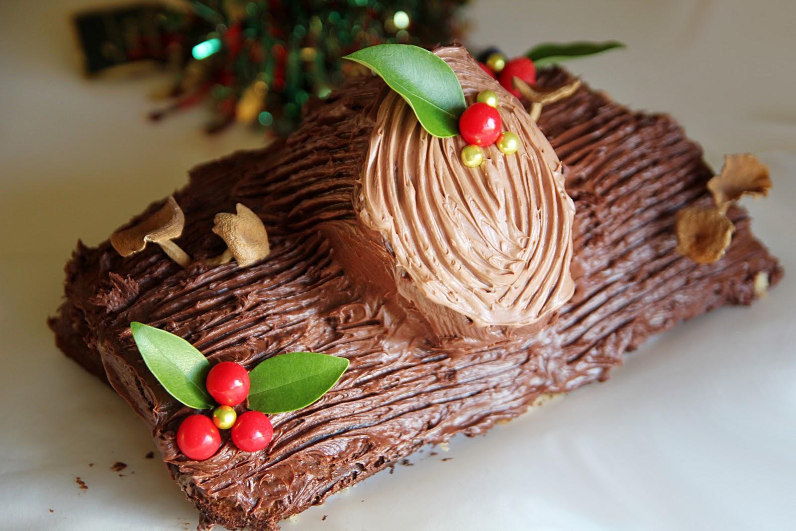 Yule Log Cake feat. Candy Cap Mushrooms