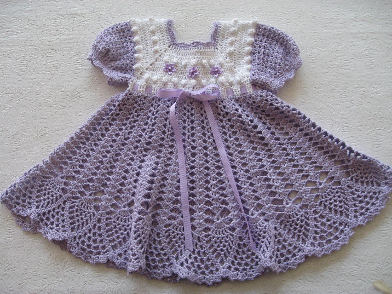 Crochet Stitches Baby Frock : TRICO y CROCHET-madona-m?a: Vestidos de Crochet Vintage con enlace de ...