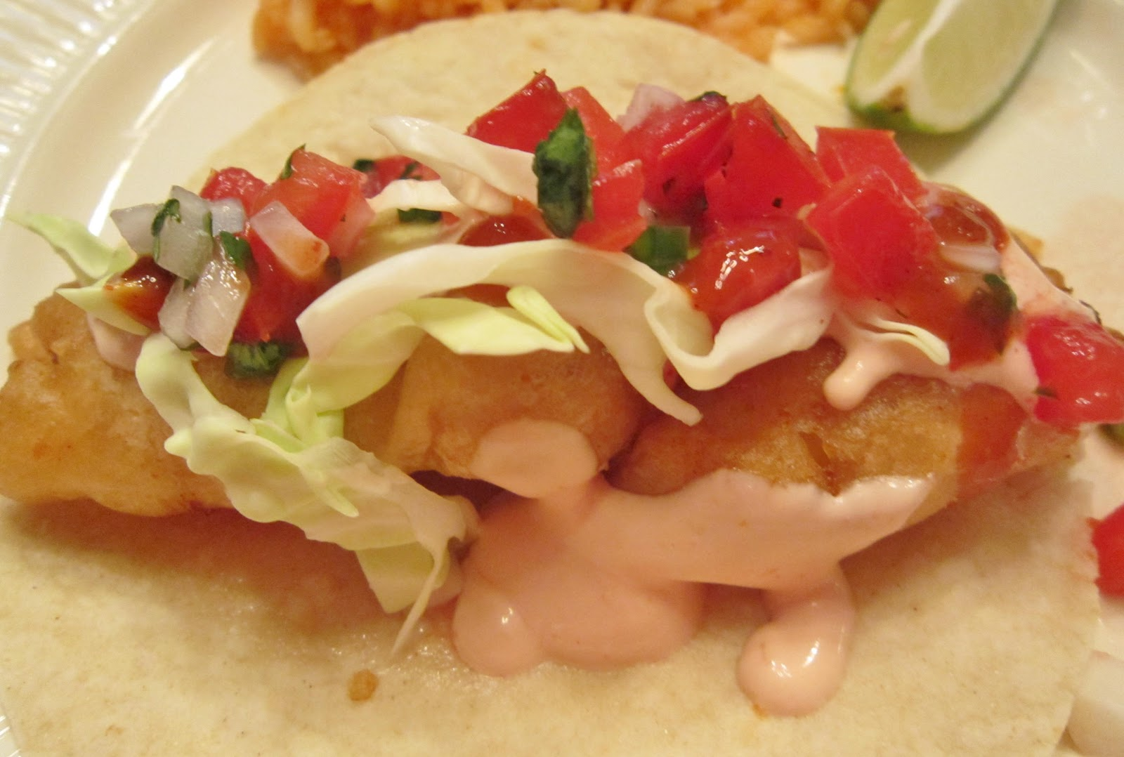 Dinner night sparkling city by the sea and fish tacos for Authentic fish tacos