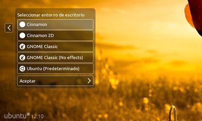 Iniciar sesión con Cinnamon en Ubuntu