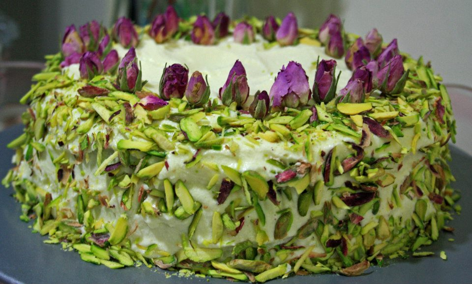Rose and Cardamom cake aka Dads birthday cake Mother Pateesa