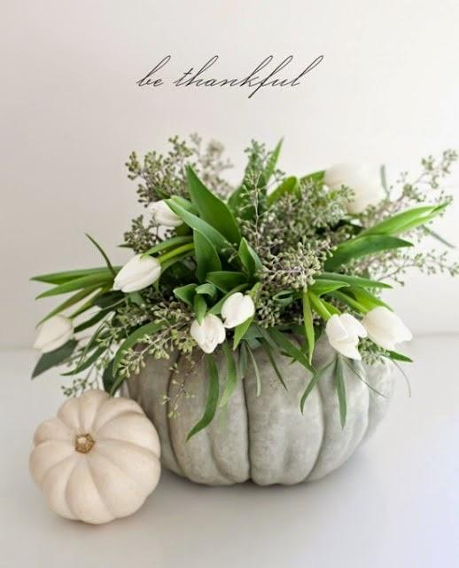 Pumpkin Vase Flower Arrangement