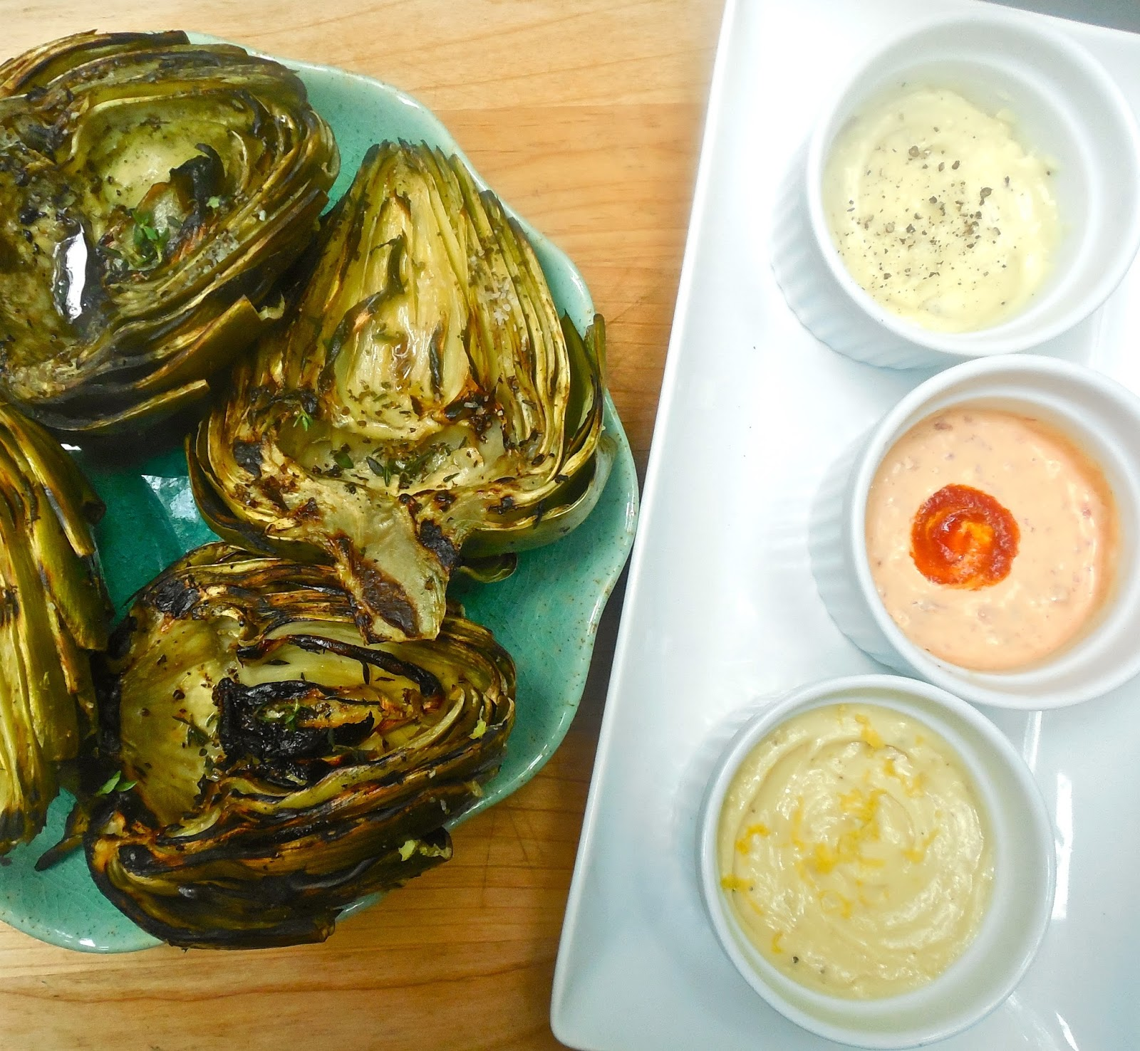 Haute + Heirloom: Summer Staples : Grilled Artichokes with ...