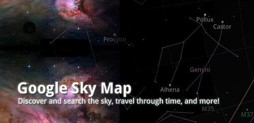 Android / HTC için gök haritası programı: Google Sky Map
