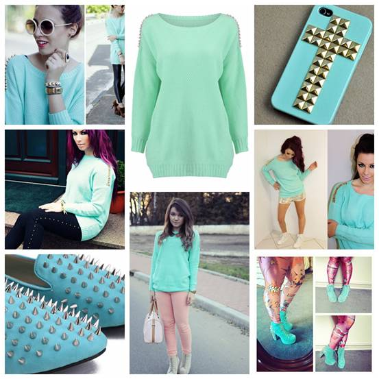 romwe seafoam items, romwe mint items, street style
