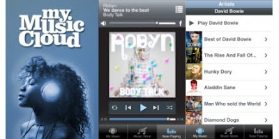 MyMusicCloud app for BlackBerry