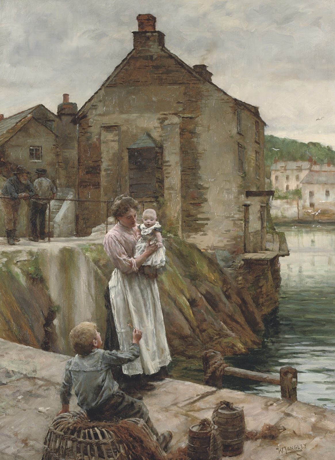 Walter Langley On the Quay Newlyn