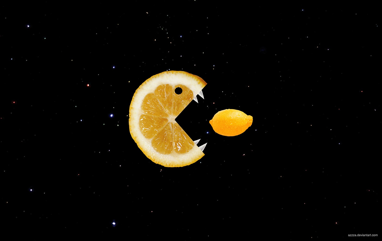 Lemon eats lemon wallpaper