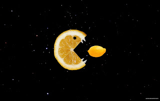 Lemon eats lemon while flying through space