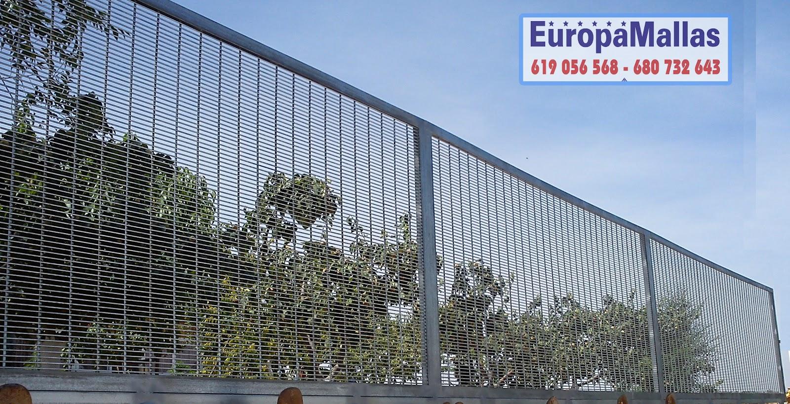 cerramientos metalicos europamallas: CERRAMIENTO PAÑOS ENMARCADOS TUPIDO