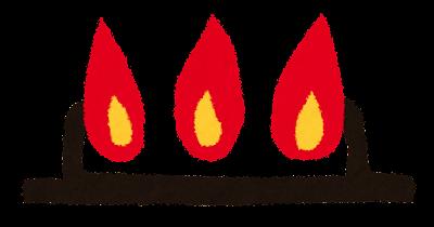 火加減のイラスト「強火」