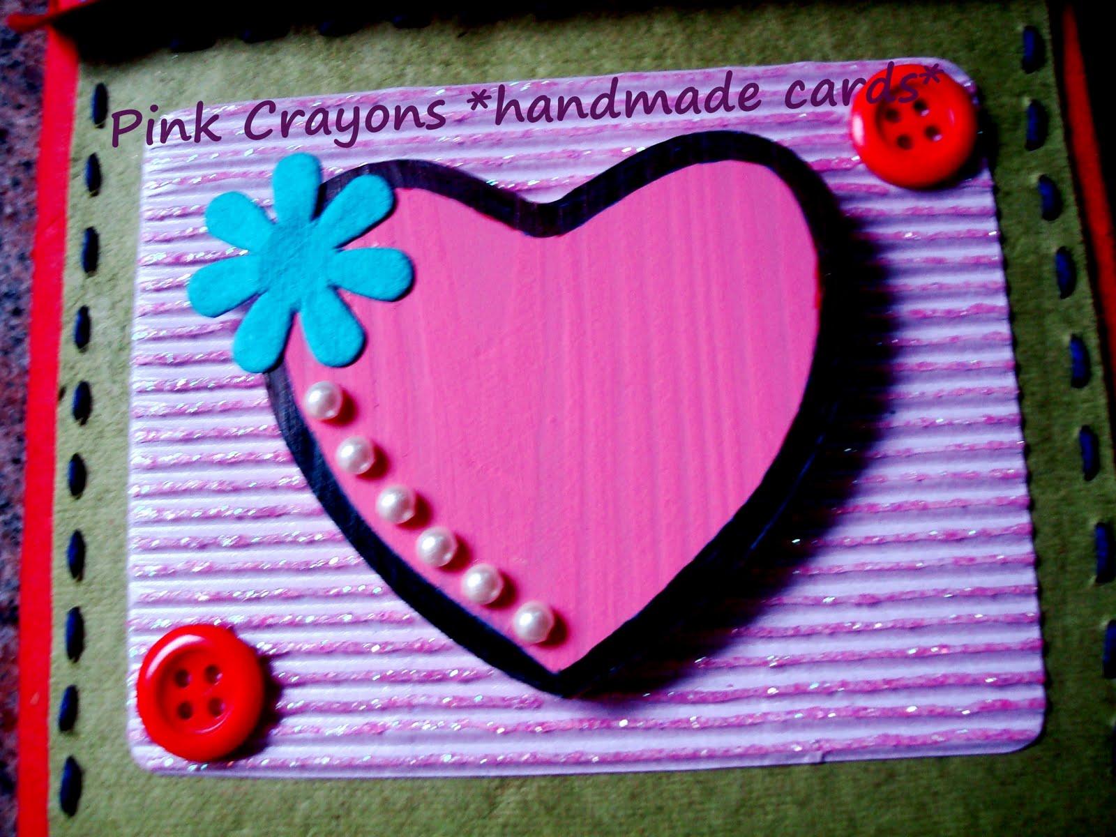 Pink crayon handmade cards anniversary card pink crayon handmade cards thecheapjerseys Images
