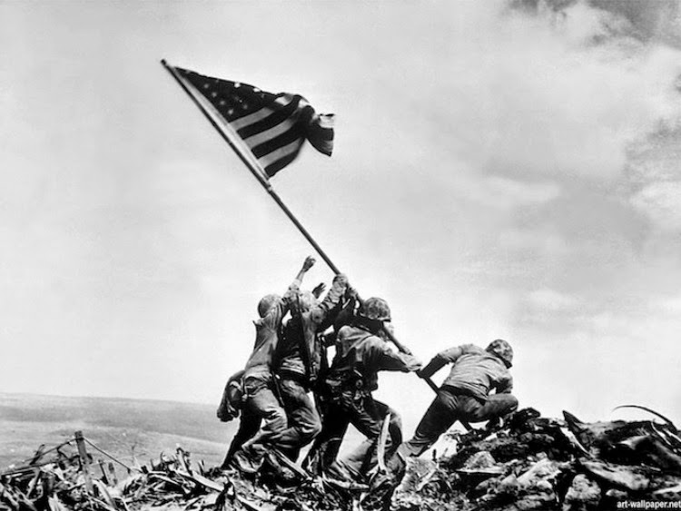 A Vintage Nerd, Vintage Blog, A Picture Worth a Thousand Words, Raising the Flag on Iwo Jima