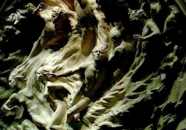 """Poema EL ROPERO VACÍO, de Reizl Zhijlinky. Escultura de Frederick Hart; Libro de Referencia:Carlos Morales, """"Salmo"""", Col. «Cuadernos del Mediterráneo», Ed. El Toro de Barro, Tarancón de Cuenca, 2005."""