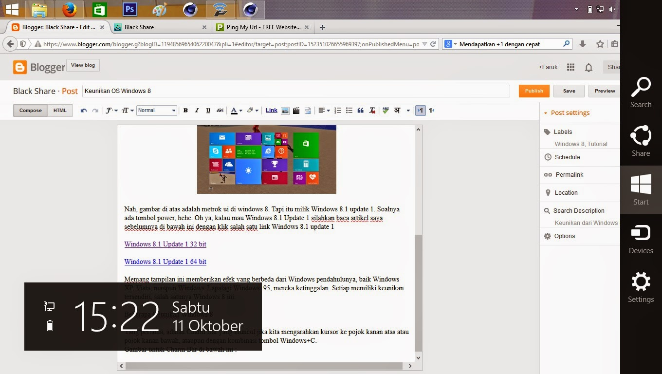 Keunikan Windows 8