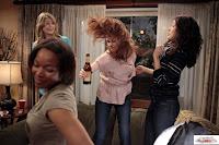 sandra oh, sarah drew and ellen pompeo dancing