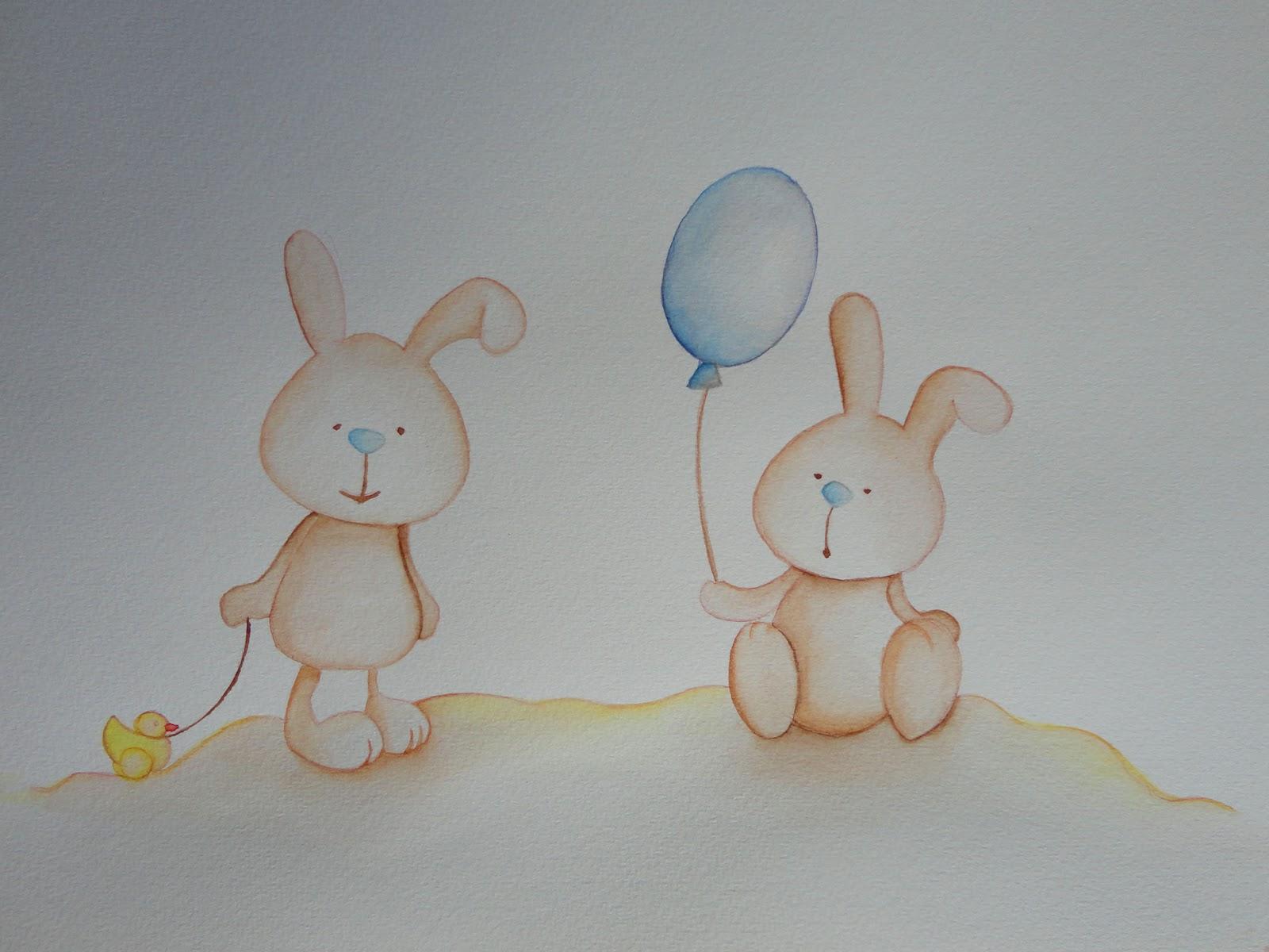 Decopared murales de ositos ratoncitos y conejitos para - Dibujos habitacion bebe ...
