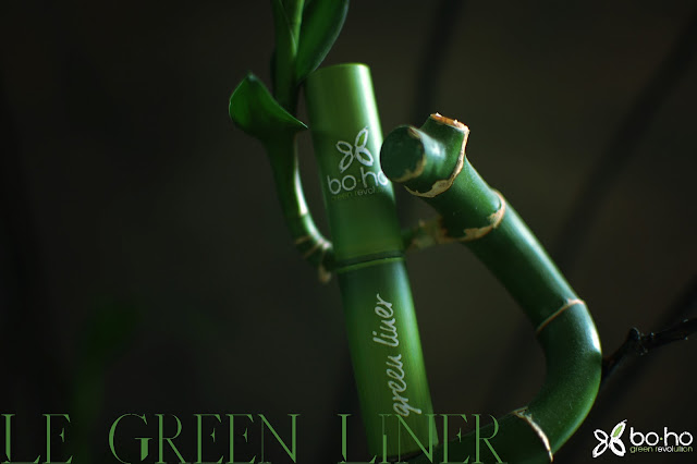 boho cosmetics - green liner - eye liner - black liner - bambou- produit écologique - origine naturelle