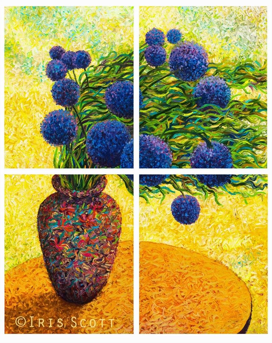 13-Arrangea-Hydrangea-Iris-Scott-Finger-Painting-Fine-Art-www-designstack-co