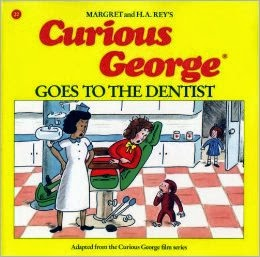 http://www.amazon.com/Curious-George-Goes-Dentist-Rey/dp/0395519381/ref=sr_1_1?s=books&ie=UTF8&qid=1383794082&sr=1-1&keywords=curious+george+goes+to+the+dentist