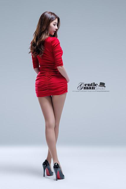 4 Hot Red - Kim Yoo Yeon - very cute asian girl - girlcute4u.blogspot.com