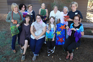 Group photo of Nuno-Felting class
