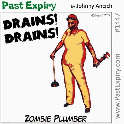 This a cartoon about Zombie Plumber. Under category of  movie, Halloween, people,  and