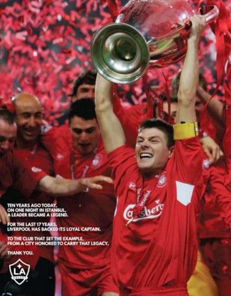 Press Advertising Liverpool Gerrard LA Galaxy