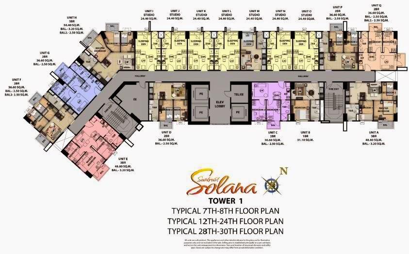 Solana Condominium Tower 1 Floor Plan