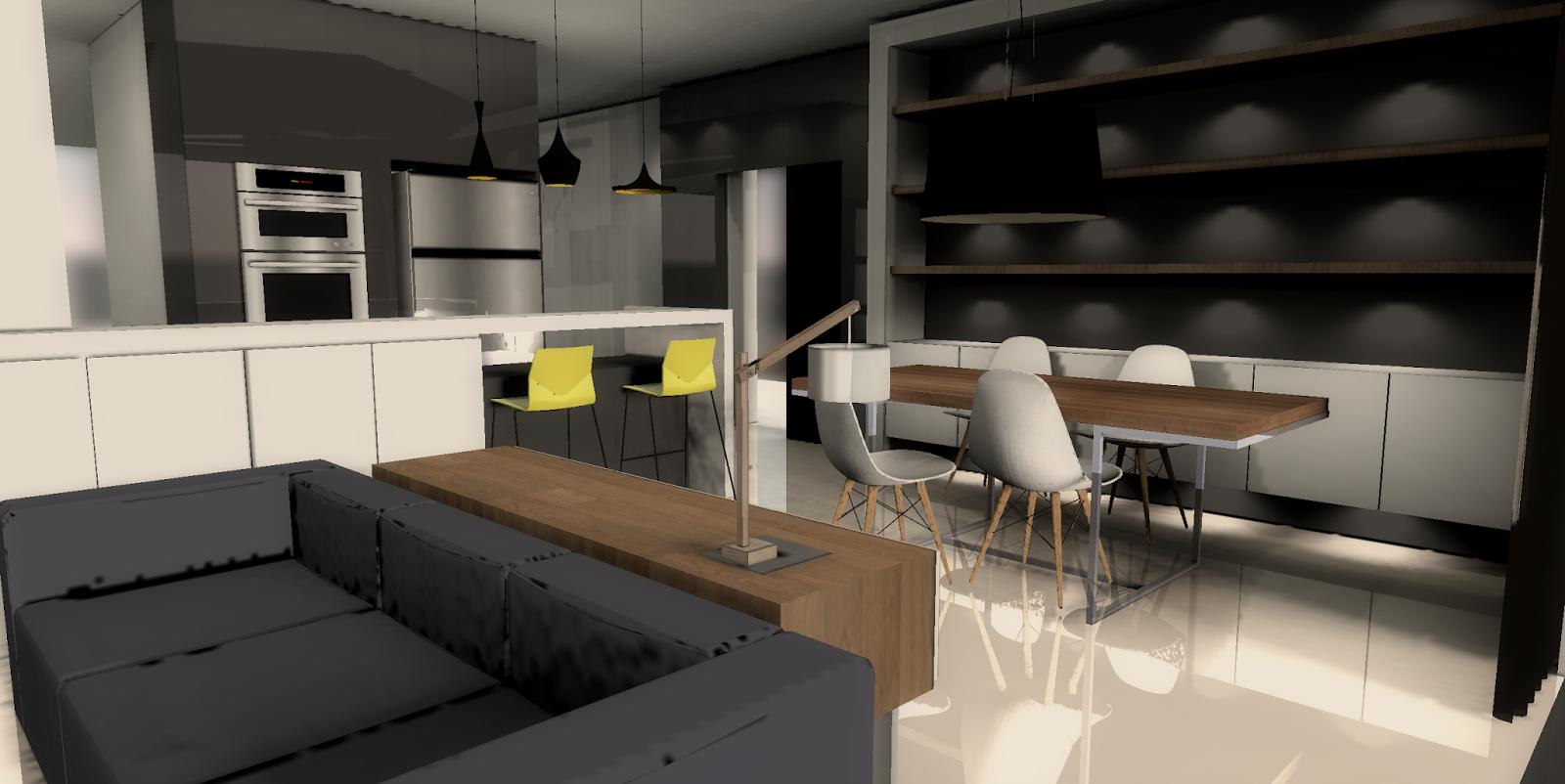 Fukusu interior design for open concept living room for Minimalist design concept