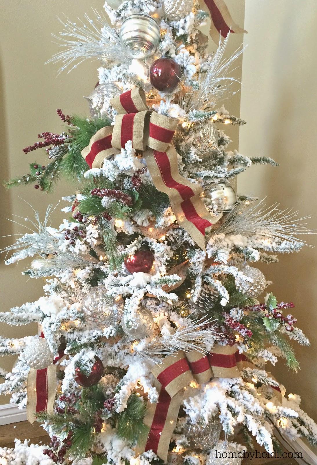 christmas tree ribbon - How To Put Ribbon On A Christmas Tree