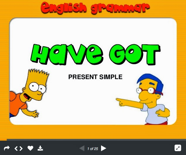http://www.slideshare.net/Marta_Ojero/verb-have-got-with-the-simpsons