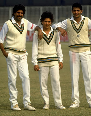A young Sacin during his debut series in Pakistan