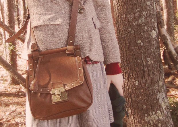 brown satchel