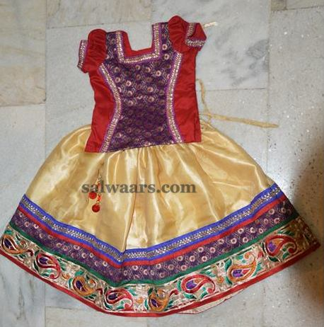 Silk Lehenga with Thread Work