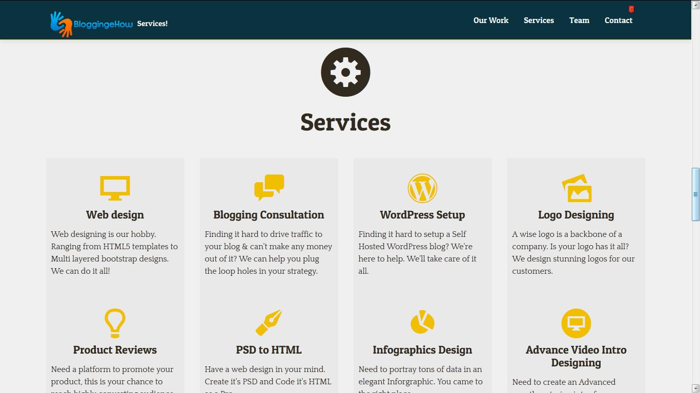 blogigngehow services