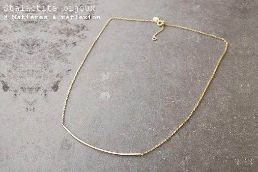 Collier fin en vermeil Stalactite bijoux paris