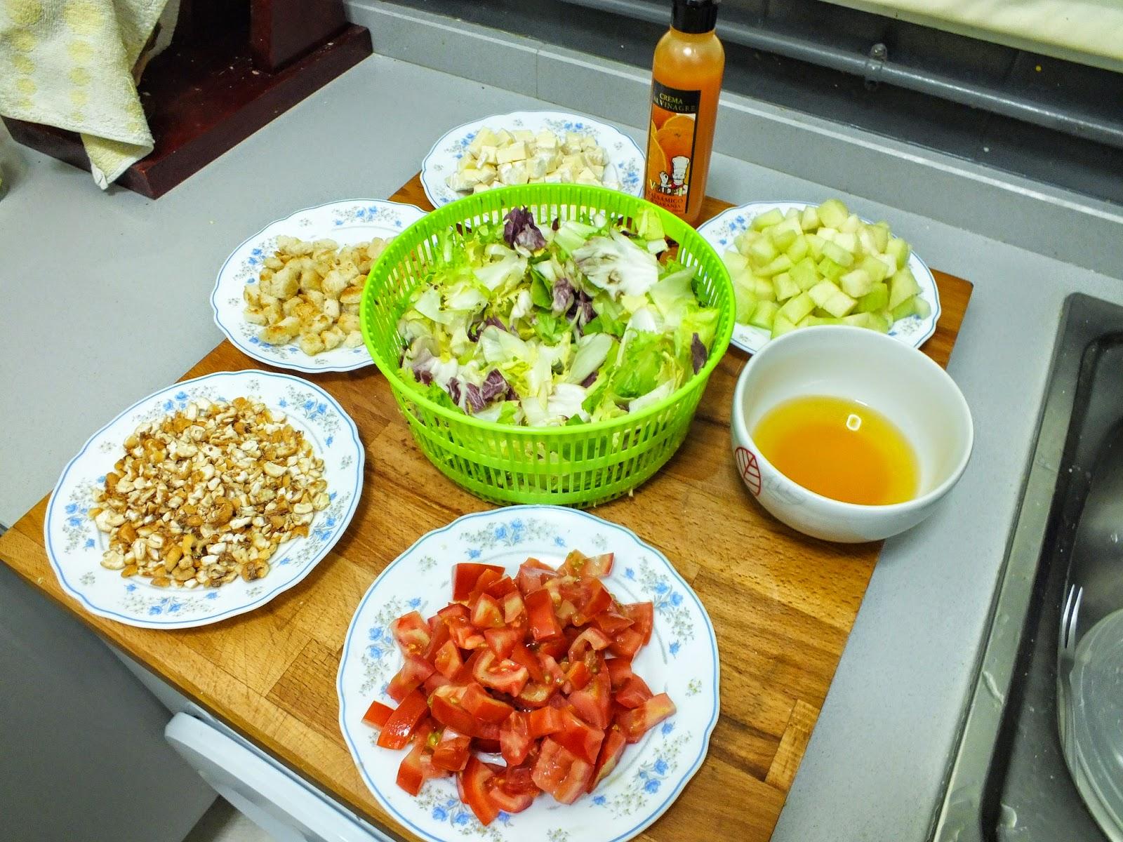Escuela de cocina pako amor ensalada mix con kikos con - Escuela de cocina paco amor ...