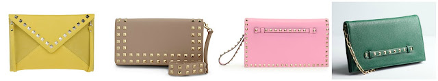 One of these studded clutches is from Valentino for $1,695 and the other three are under $43. Can you guess which one is the real designer bag? Click the links below to see if you are correct!